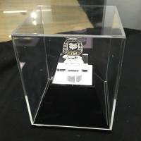 Buy cheap Acrylic Clear Basketball  MVP Ring Display Case Counter top Plexiglass Champion Medal Cube Holder Box from Wholesalers