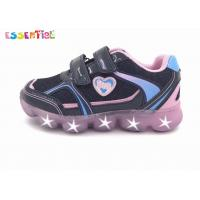 Velcro Sporty Girls LED Light Sneakers Printed Synthetic Upper Material