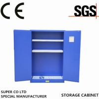 Buy cheap Blue Chemical Liquid Sulfuric Corrosive Storage Cabinet With 2 Doors from Wholesalers