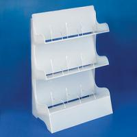 Buy cheap 3 Layer White Acrylic Jewelry Display Case Holder 30 * 60cm from Wholesalers