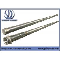 Buy cheap Stainless Steel Slot Tube Candle Filter With End Fittings from Wholesalers