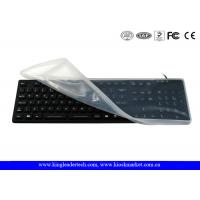 Buy cheap Full Keys Black Waterproof Keyboard With Removable Silicone Protecting Cover from wholesalers