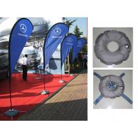 Quality Teardrop Outdoor Marketing Flags 2.8 - 5.5m Chrome - Plated Iron Spike wholesale