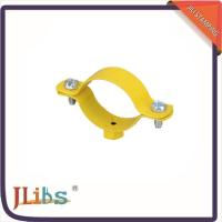 Buy cheap Custom Hex Nut Cast Iron Pipe Clamps M8 Welding Clamp Yellow Coating from Wholesalers