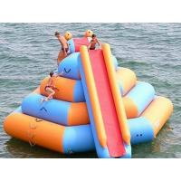 Outdoor Inflatable Water Park For Lake / Inflatable Water Slides Climbing