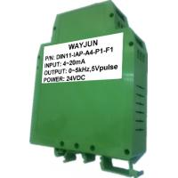 Buy cheap 3000V isolation 4-20mA to 1-5KHz Signal Isolated Transmitter DIN35 signal converter green from wholesalers