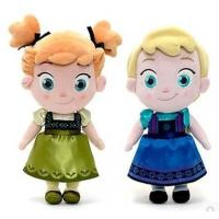 Quality Small Girls Disney Plush Toys Elsa And Anna Frozen Baby Dolls 30cm wholesale