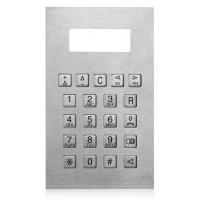 Buy cheap IP65 Stainless Steel Metal Numeric Keypad For Safedoor , Control Panel Keypads from Wholesalers