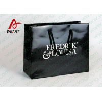 Buy cheap Black Glossy Lamination Custom Printed Retail Bags , Modern Kraft Paper Shopping Bags from Wholesalers