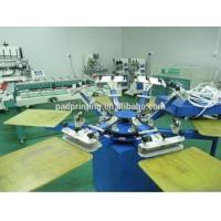 Hot sale 4/6/8/12 colors manual silk screen printing machine for Tshirt with 40*50cm 50*60cm worktable