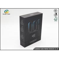 Buy cheap Silver Stamping Matte Black Cardboard Gift Boxes For Facial Mask from Wholesalers