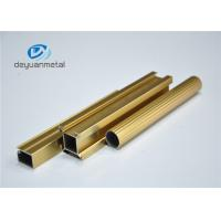 Standard Polishing Golden Extruded Aluminum Framing For Decoration Comply to GB5237.1-2008