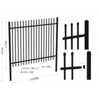 Buy cheap Australia standard black garrison spear tubular steel garrison fence 2100mm*2400mm from wholesalers