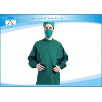 Green Or Blue Polyester Reusable Surgical Gowns , Antistatic Isolation Gowns