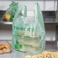 Buy cheap Biodegradable Green T Shirt Shopping Bags HDPE Material With 1 / 6 Size from Wholesalers