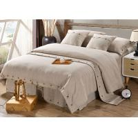 China Pure Linen Wooden Buttons Modern Bedding Sets 4Pcs Real Simple Logo Customized on sale