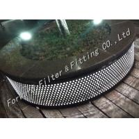 Quality Customized Punching Plate Straight Welded Pipe SUS 304/316/316L Alloy wholesale