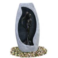 Buy cheap Handmade Fiberglass Resin Large Outdoor Water Fountains With Lights , 53x21x107cm from Wholesalers