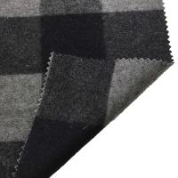 Buy cheap 5.5cm Checked Fake Tartan Wool Fabric / Melton Wool Fabric For Fashion Coat from Wholesalers