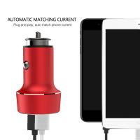 Buy cheap 3.1A Dual USB CAR CHARGER with Voltage Monitoring Aluminum Alloy Multi colors to choose Automatic Matching Voltage from wholesalers