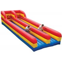 Two Lanes Inflatable Sports Toys Bungee Run Abrasion Resistance For Kids And Adults