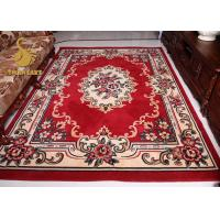 Quality Comfortable Persian Hand Knotted Rugs , Red And Blue Persian Rug Wear Resistant for sale