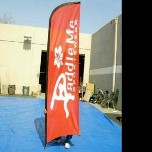Quality Aluminum cross base beach falg/Double Sided Beach Flag/Flying Flag/Feather Flag wholesale