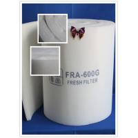 Buy cheap EN779 F5 Paint Booth Ceiling Filter Rolls / Air Filter Roll Material from Wholesalers