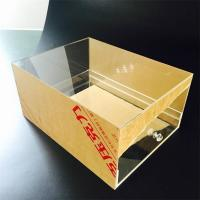 Quality Custom Transparent Acrylic Shoes Box With drawer Manufacturers for sale