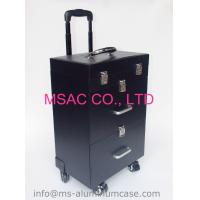 Buy cheap Professional Trolley Aluminium Beauty Case With Wheels PVC Lining Waterproof from Wholesalers