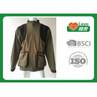 Quality 100% Polyester Olive Color Fleece Hunting Jacket For Hunting / Hiking / Camping wholesale