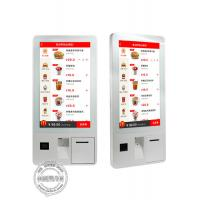 Quality 32 Inch Automatic Fast Food Touch Screen Self Ordering Self Service Payment Kiosk  Windows OS With POS Terminal for sale