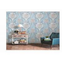 Buy cheap Washable PVC Vinyl Wallpaper Damask  Design Classic For Living Room from Wholesalers