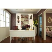 Buy cheap Western Wooden House Furniture Customized Bookcase with Desk from Wholesalers