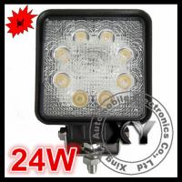 Buy cheap 24W 8pcs leds square spot beam car lamp motorcycle light from Wholesalers