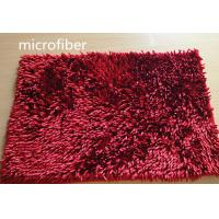 Buy cheap Microfiber Mat Red 40 * 60cm Big Chenille Bathroom Indoor Anti - skid Rubber from Wholesalers