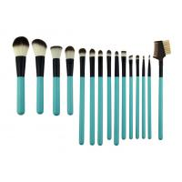 Buy cheap Cosmetic Green Professional 15 Piece Makeup Brush Set Wih Synthetic Hair from Wholesalers