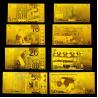 Buy cheap Euro Set 24 Karat Gold Foil Banknotes , Engrave Gold Bank notes from Wholesalers