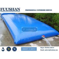 Quality Fuushan PVC Bladder Inflatable Water Storage Tanks , High Strength Coated Fabric 10500Lt wholesale