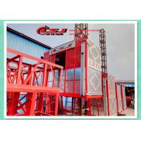 Quality High Security Builders Hoists / Building Material Lift For Construction 2*12kw Motors wholesale