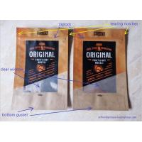 Buy cheap Snack Food Packaging Poly Bags , Laminated Brown Craft Paper Bags from Wholesalers