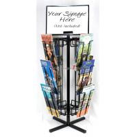 Buy cheap Free Standing Rotating Retail Display Fixtures With Metal Brochure Display Rack from wholesalers