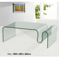 Buy cheap bent glass clear rectangular fancy coffee table from wholesalers