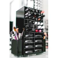Buy cheap High clear customized acrylic spinning lipstick holder rotatable makeup organizer from Wholesalers