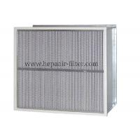 Buy cheap Deep Pleat Type High Temp Hepa Filter Performance With Aluminum Foil Separator from wholesalers