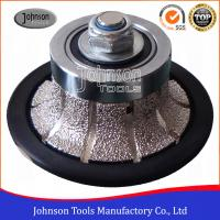 Buy cheap No.2 Half Bullnose Vacuum Brazed Diamond Tools For Edging Stone from wholesalers