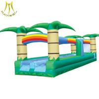 Quality Hansel  inflatable water park round inflatable bounce houses water slide for sale
