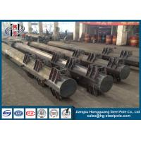 Quality Single Circuit Electrical Power Transmission Poles Polygonal Pole With Bitumen Q345 wholesale