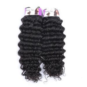China Double Drawn Wholesale price 100% Peruvian hair bundles , Deep Wave Hair on sale
