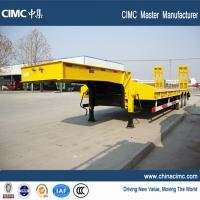 China tri axle 12 wheels lowbed trailer 35 tons for sale on sale